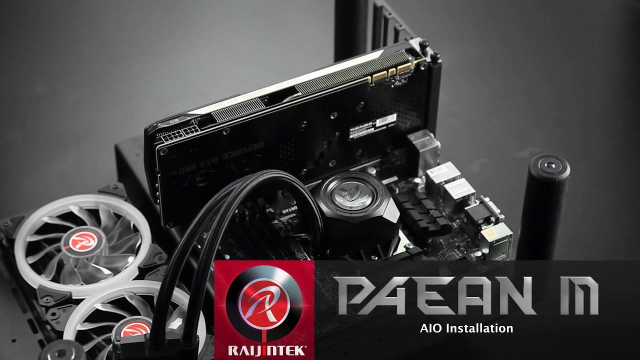 Raijintek Designed In Germany Made Taiwan Paean M Micro Atx Casing Pc Open Air Mini Itx Mikro Frame Chassis