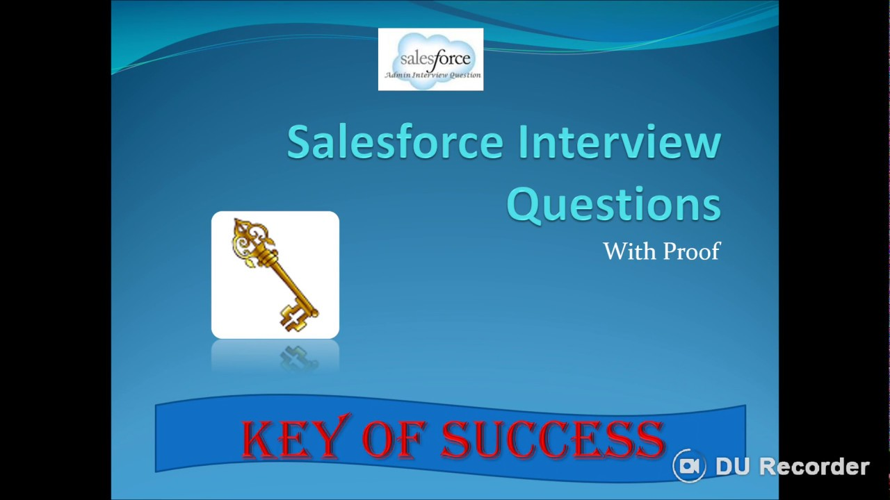 SALESFORCE INTERVIEW QUESTIONS AND ANSWER(Basic) Part- 1 - YouTube