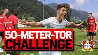 Kick it like Schick - CHALLENGE | Wirtz, Diaby & Bakker stellen unfassbares 50-Meter-Tor der EM nach