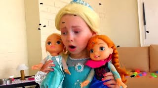 Alice as a Princess Sofia The First  play with baby dolls