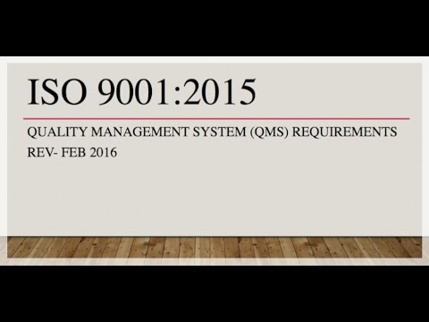 Introduction To Iso 9001 2015 Quality Management System