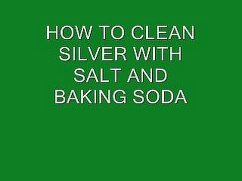 how to CLEAN SILVER WITH BAKING SODA AND SALT clean silver jewelry cutlery coins etc  YouTube