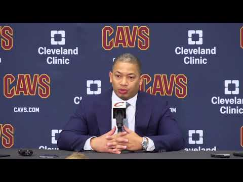 """""""I'm not focused on Golden State, I'm focused on my team."""" Coach Tyronn Lue at C"""