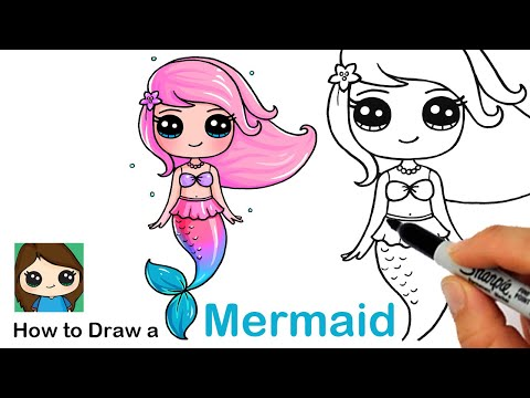How To Draw A Mermaid Step By Step Easy And Slow