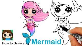 how to draw a mermaid  - Как нарисовать русалку