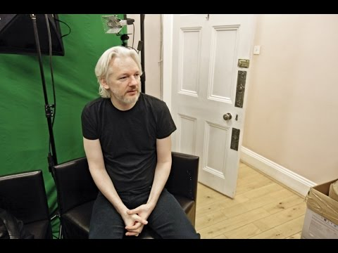 Whistleblower Julian Assange's London Embassy Refuge - Founder of Wikileaks On Hillary Clinton