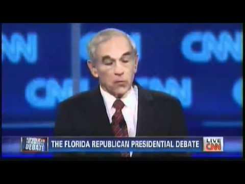 Ron Paul Highlights ∞ CNN Florida Debate (2/2) GOP Republican Revolution 2012