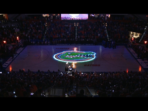 Florida Basketball - Pregame Court Projection