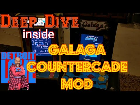 A Deep Dive: Arcade1UP Galaga Countercade Mod from Detroit Love