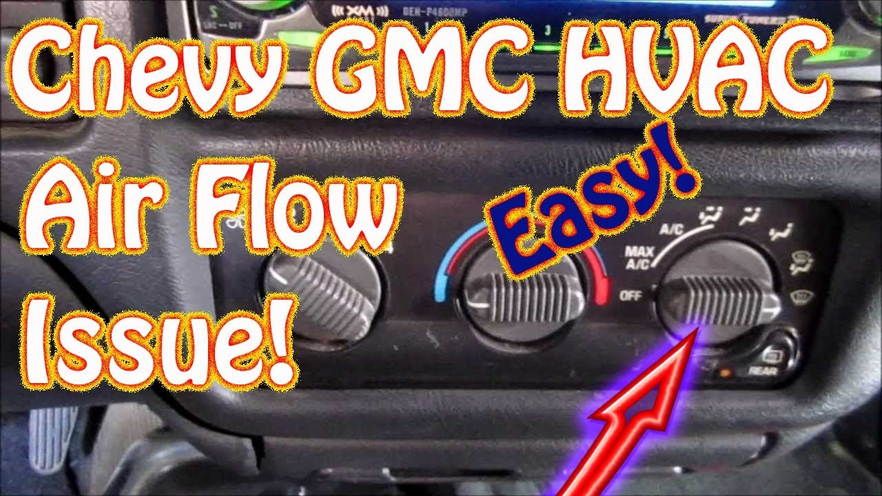 hight resolution of gmc jimmy s10 blazer diy how to diagnose hvac mode control vent defrost floor selector