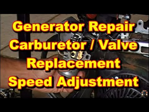 Generator Repair Coleman Powermate Valve And Carburetor