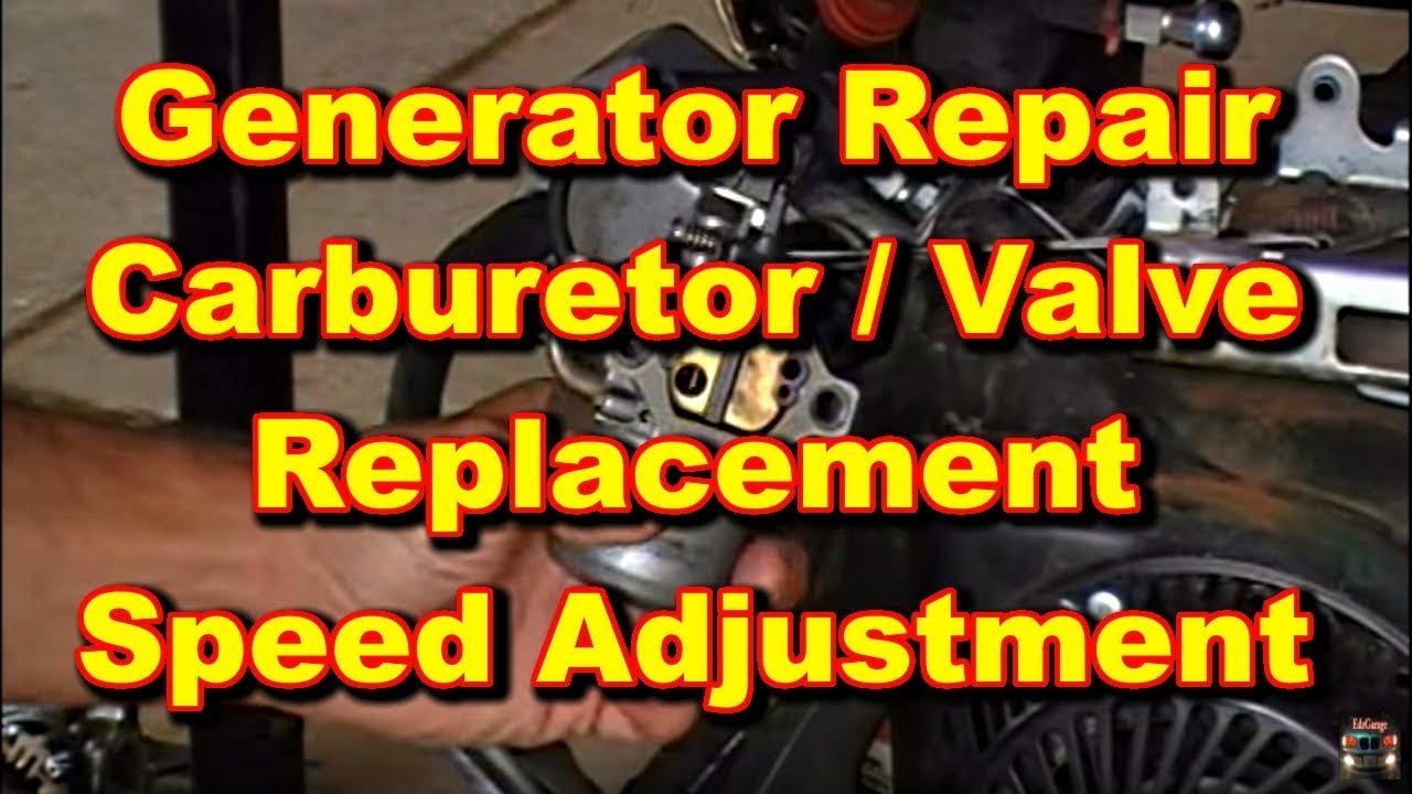 Generator Repair Coleman Powermate Valve And Carburetor Youtube Diagram Parts List For Model H6075506n Tecumsehparts All