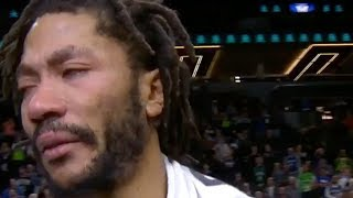 6ce3fa52e39 Derrick Rose CRIES After AMAZING Career High Performance! LeBron James    NBA REACTS!