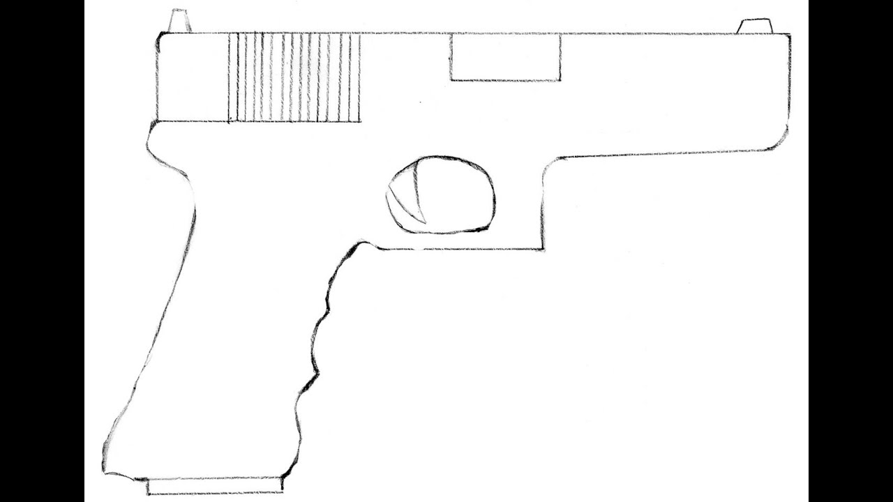 Пистолет рисунок