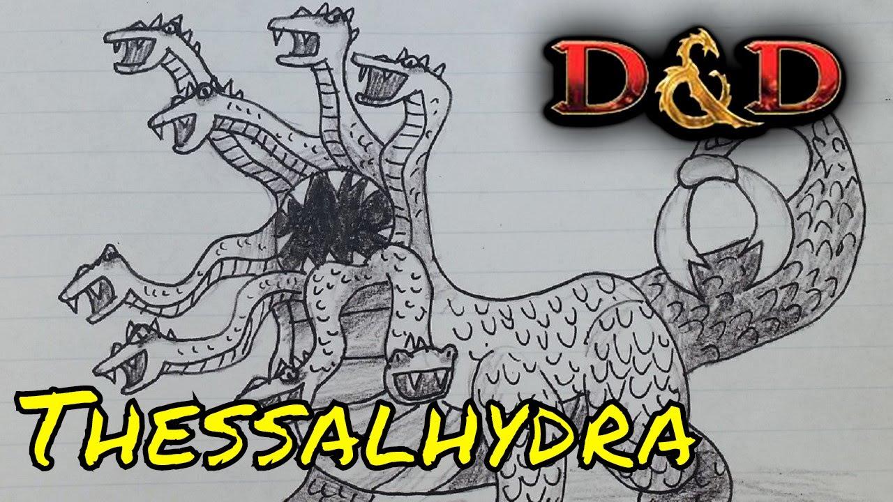 Thessalhydra from Stranger Things D&D 5E Starter Set (DM Guide)