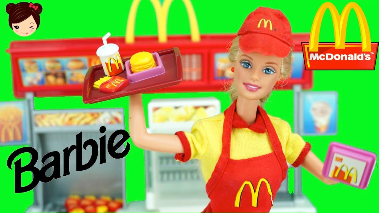 barbie mc donalds restaurante para muecas los juguetes de titi youtube