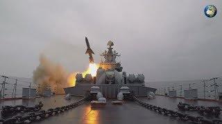 Пуск крылатых ракет в Охотском море