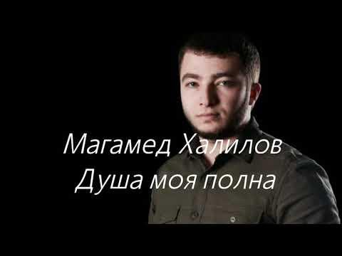 Магамед Халилов - Душа моя полна. ( сөзі, текст, Lyrics)