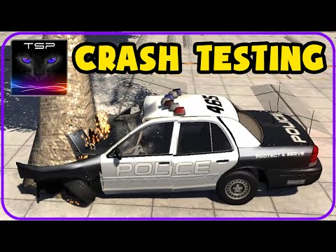BeamNG - Police Ford Crown Victoria - Crash Testing & Accidents