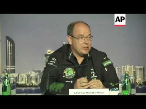 UAE minister, Prince Albert II on solar flight