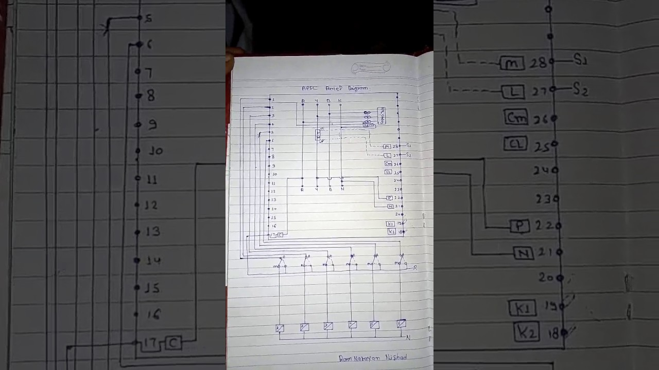 control wiring diagram of apfc panel big daigram youtube