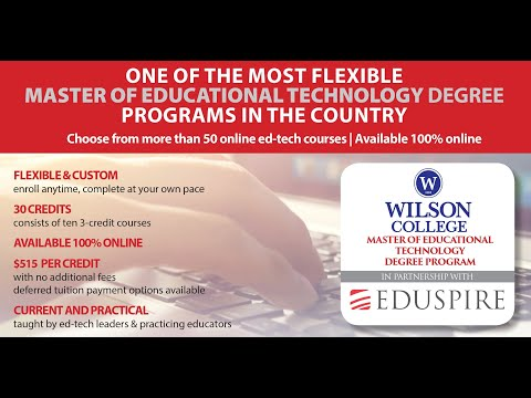Master of Educational Technology Program | Wilson College in ...