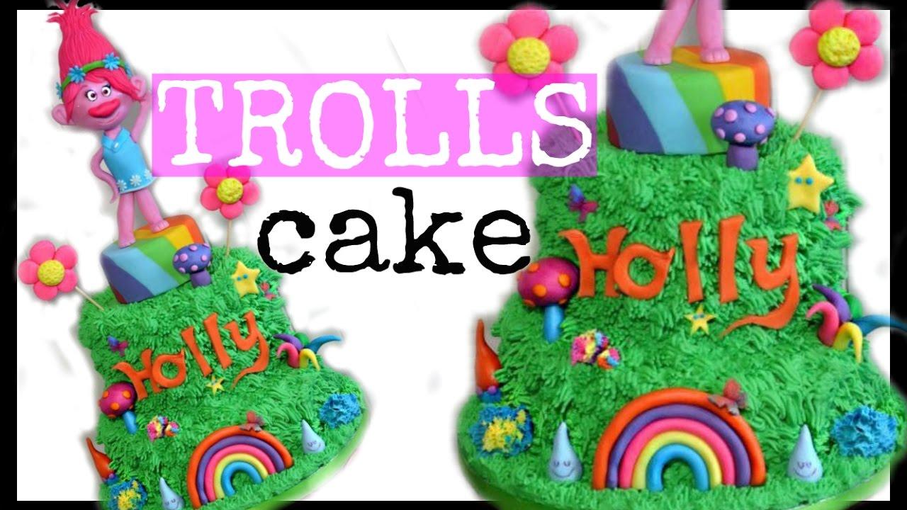Huge Trolls Cake Trolls Party Ideas Princess Poppy Youtube