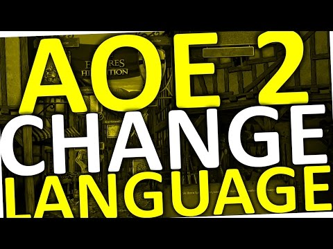 How To Change Language in Age Of Empires 2 (HD AOE 2)