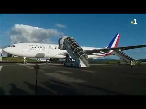 NC la 1ère en Live : arrivée d'Emmanuel Macron à l'aéroport de la Tontouta Nouvelle-Calédonie