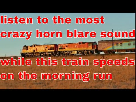 A Rural Metro Train in South Africa Part 2 - Crazy!!! Horn Metro Train