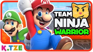 Team Ninja Warrior Kinder 🏃‍♂️🏃‍♀️ Super Mario Odyssey Kinderfilm