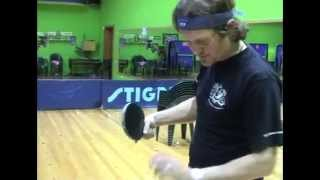 Техника удара слева (настольный теннис видео-уроки)