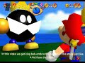 Super Mario 64 getting King Bob-omb to the bottom of the level
