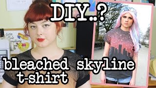 DIY Skyline Print T-Shirt | Make Thrift Buy #13(umm... alien invasion? Support me on Patreon! https://www.patreon.com/annikavictoria Original item by the Left Bank: ..., 2015-01-07T11:49:20.000Z)