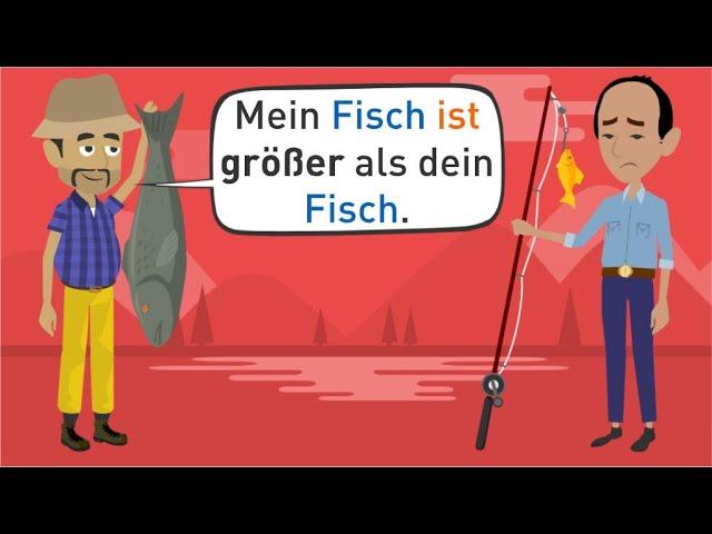 Deutsch lernen A1   Grammatik: Adjektive steigern   Wortschatz: vergleichen und beschreiben