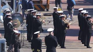海上自衛隊東京音楽隊 訪日英海軍艦艇 フリゲート「モントローズ」 入港歓迎行事