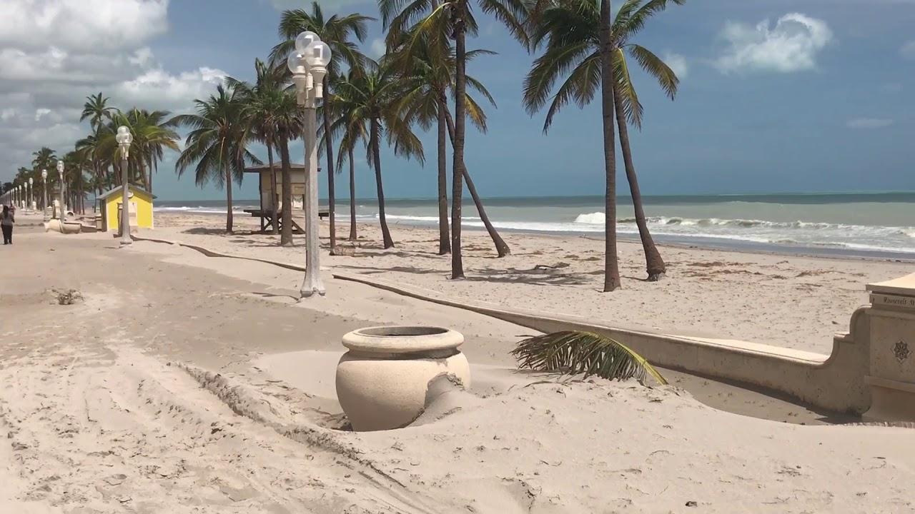 Hollywood Beach Florida After Hurricane Irma