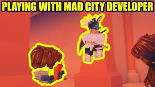 Playing with MAD CITY DEVELOPERS [CHEATERS???] | Roblox Mad City