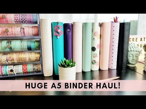 Huge A5 Binder Haul & Comparison