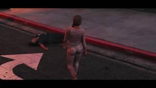 GTA V : Gang Girl murders two police men