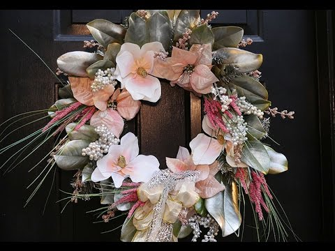 DIY | Blush Magnolia Christmas Wreath