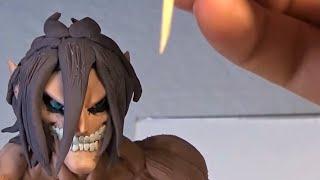 Como Hacer a EREN TITAN de Plastilina Shingeki No Kyojin. How to Make Eren Attack on titan in Clay
