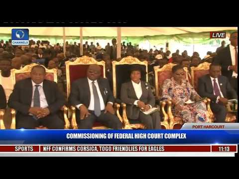 Commissioning Of Federal High Court Complex Pt. 3 -- Victor Frank-Briggs