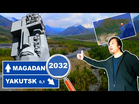 HOW FAR EAST CAN YOU GET TO BY HITCHHIKING | 2032KM From Yakutsk to Magadan (Road of Bones)