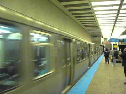 CTA Blue Line Running Express thru Belmont Subway Station, 19.04.12