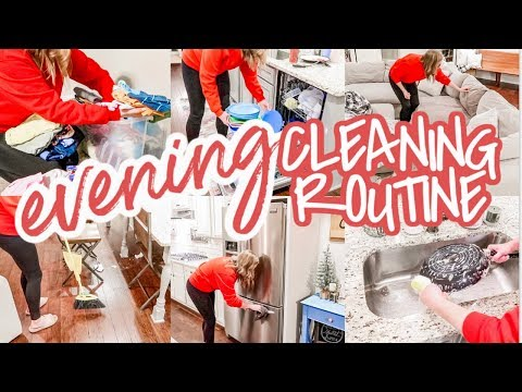 NEW! EVENING CLEANING ROUTINE | RELAXING NIGHT TIME CLEAN WITH ME | ULTIMATE CLEANING MOTIVATION