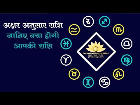 Rashi (Zodiac) According First letter Of Name II नाम के पहले अक्षर से जाने आपकी राशि II