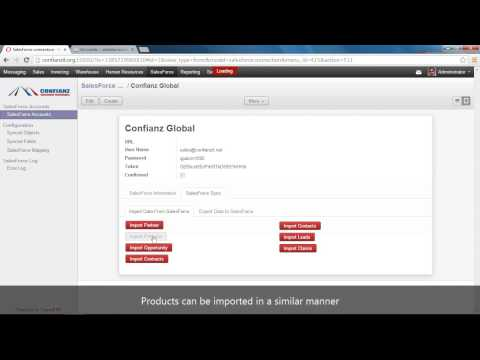 OpenERP/Odoo Salesforce Connector from Confianz Global