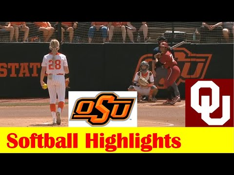 #1 Oklahoma vs #7 Oklahoma State Softball Game Highlights 5 8 2021
