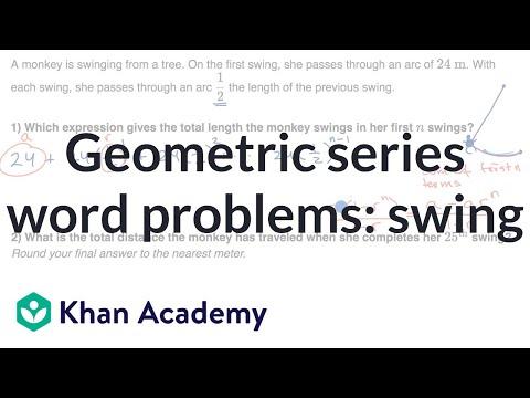 Geometric series for monkey swings
